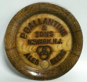 Antique P. Ballentine And Sons Newark Nj Tip Tray Ale Beers 1916 250th Anniversary