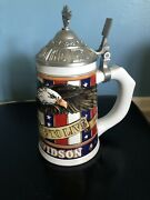 """1998 Harley Davidson Cavanagh """"live To Ride,ride To Live"""" Le Beer Stein W/coa.."""