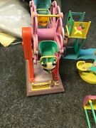 Rare 1990's Barbie Carnival Set With Music And Moving Rides