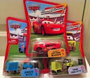 Disney Cars 2 Racer Pitty's And Bug Mouth Mcqueen Race O Rama Mattel Diecast New