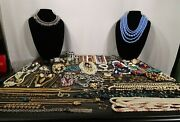 Vtg To Now Mixed Lot Of Costume Jewelry Junk Drawer Estate Sale Find Over 5 Lbs