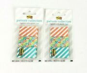 Lot Of 2 Post-it Pattern Collection Stylish Flags