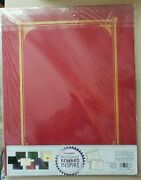 5 Pack Geographicsandreg Certificate/document Cover12 1/2 X 9 3/4burgundy Pack Of 6