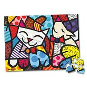 Romero Britto Jigsaw Puzzle 100 Pieces Cat And Dog - Sealed -