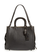 🌺🌹coach 1941 Rogueand039 Leather Satchel Black-gold 895 Style 58151