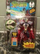 Spawn Medieval Action Figure Spin Action W Comic Book Sword Blue 1994 New