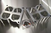 Fits Weiand Tunnel Ram Aluminum Spacer Gasser Fe Ford 351c Cleveland Riser 2