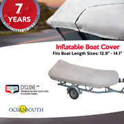 Heavy Duty Inflatable Boat Dinghy/tender Cover Fits Boats 12'9-14'1