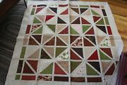 Home For The Holidays - Fall / Christmas Handmade Lap Quilt - 64x64 - New