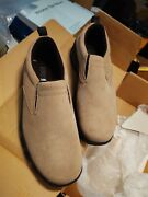 Lands End Women's All Weather Tan Suede Slip-on Shoes Size 8 New In Box