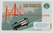 San Francisco Starbucks 2009 Gift Card Cable Car Trolley Never Used