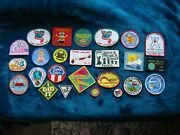 Lot Of 25 Vintage Girl Scout Patches. Never Sewn Fun Patches.