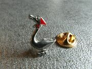 Rare Pins Pin's - Goose With Red Scarf - Animal - Enameled Big Fire Sign Bichet