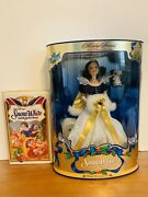 Vintage- Snow White Holiday Princess Barbie Doll 1994 And Rare Vhs Tape 1994