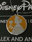 Alex And Ani Belle Pendant Necklace Disney Parks Beauty And The Beast Silver Nwt