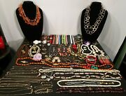 Vintage To Now Mixed Lot Of Costume Jewelry Junk Drawer Estate Sale Treasure