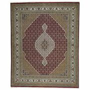 Hand-knotted Traditional Design Handmade Wool And Silk Rug 8.0 X 10 Brral-6483