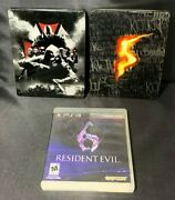 Lot Of 3 Ps3 Resident Evil 5 6 Operation Raccoon City Steel Games