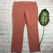 Loft Outlet Womens Size 12 Pink Modern Skinny Ankle Cropped Capri Pants Stained