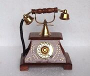 Wooden Telephone New Handcrafted Carved Old Home Decor Halloween Gifts U-25
