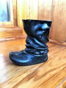 """Old Metal Ashtray Or Pencil Stand - """"boot"""". Antique Table Stand For Pens And Pen"""