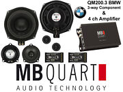 Component Speakers And 4ch Amp For All Bmw Straight Fiit Qm200.3 + Na1-320.4