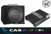 Soundstream 15 Car Subwoofer Ported Box Amplifier Kit Package Car Audio Quality