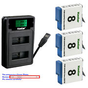 Kastar Battery Lzd2 Usb Charger For Gopro Ahdbt-801 Hero 8 And Gopro Hero8 Black
