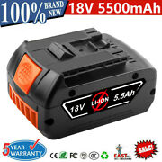 18v Battery For Bosch Bat609 Bat618 Bat611 Bat619 Bat620 5.5ah 18 Volt Cordless