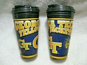 Georgia Tech Yellow Jackets Officially Licensed Collegiate 16oz Travel Cup 2-pak
