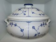 Royal Copenhagen Blue Fluted Plain Early And Large Soup Tureen 1820-1840