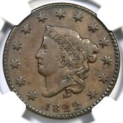 1822 N-6 R-3 Ngc Vf 30 Matron Or Coronet Head Large Cent Coin 1c
