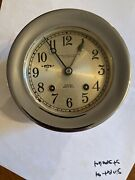 Baker Lyman And Co. Chelsea Shipandrsquos Bell Clock Vintage New Orleans