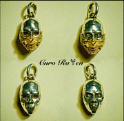 Pendant Handmade Silver Antique Necklace 18k Gold Mask For Men And Women