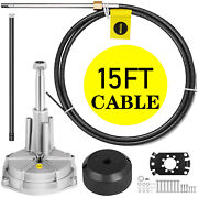 Ss13715 Rotary 15ft Outboard Steering System Kit Safe-t Cable Boats Hardware
