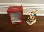 Holiday Time Collectables 3 Mice On Sleigh Sled Decoration Christmas Mouse Kids