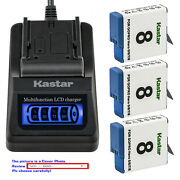 Kastar Battery Lcd Quick Charger Replace Genuine Gopro Ahdbt-801 Hero 8 Hd Black