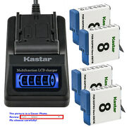 Kastar Battery Lcd Quick Charger For Gopro Ahdbt-801 Hero 8 And Gopro Hero8 Black