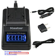 Kastar Battery Lcd Quick Charger For Gopro Ahdbt-801 Gopro8 Gopro Hero8 Hd Black