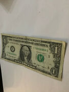 Trinary Solid Last Quad 8888 Five 8's In Lucky 1 Dollar Bill Serial Number