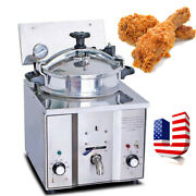 Commercial Electric Countertop Pressure Fryer 16l Stainless Steel Chicken Fish