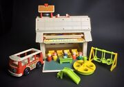 Vintage 1971 Fisher Price Little People Play Family Schule Haus Spielset Lot