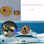 Brass Garboard Drain Plug Replacement Parts For Boat 1/2'' Npt Yacht Accessories