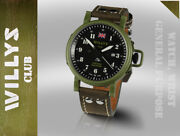 Jeep Willys Military Army Swiss Automatic Men Watch Limited Edition Gb British