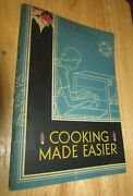 Antique Cook Booklet Cooking Made Easier Gas Stoves