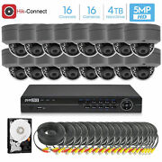Hikvision Generic 16ch 4k 8mp Dvr, 16x5mp Hd Dome Camera Security System 4tb