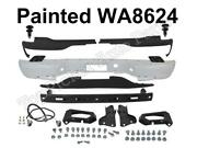 Painted White Rear Bumper Hitch Pad Bracket Lamp Screws For 2000-2006 Suburban
