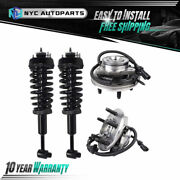 2x Front Strut And Spring + 2x Front Wheel Hub Bearing For 2002-2003 Ford Explorer