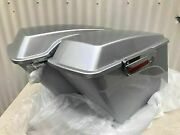 Brilliant Silver Pearl Harley Davidson Extended Saddlebags With Hardware 1994-20