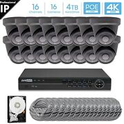 Hikvision Generic 16ch 4k 8mp Poe Nvr 16x5mp Turret Camera Security System 4tb